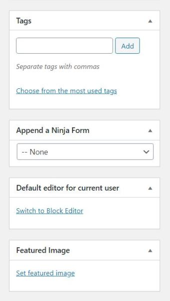 Switch to block editor option in WordPress Classic Editor