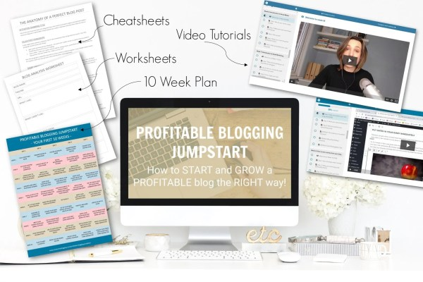 Profitable Blogging Jumpstart Course - How to START and GROW a PROFITABLE blog