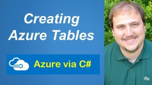 Craeting Azure Tables