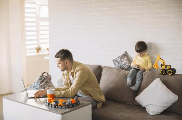 teletrabajo y organización con niños en casa