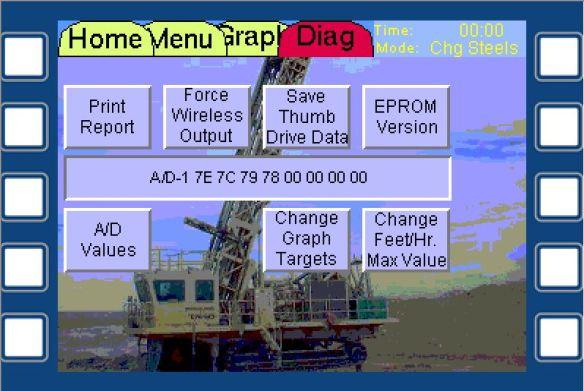 Drill Diagnostic Screen