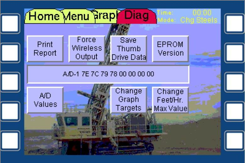 Drill Diagnostic Screen