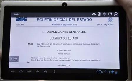 tablet chino BOE app