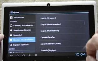 tablet chino idioma español