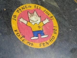 Pegatina de la mascota de los juegos olímpicos de Barcelona 92