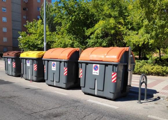 Contenedores de recogida selectiva en Madrid