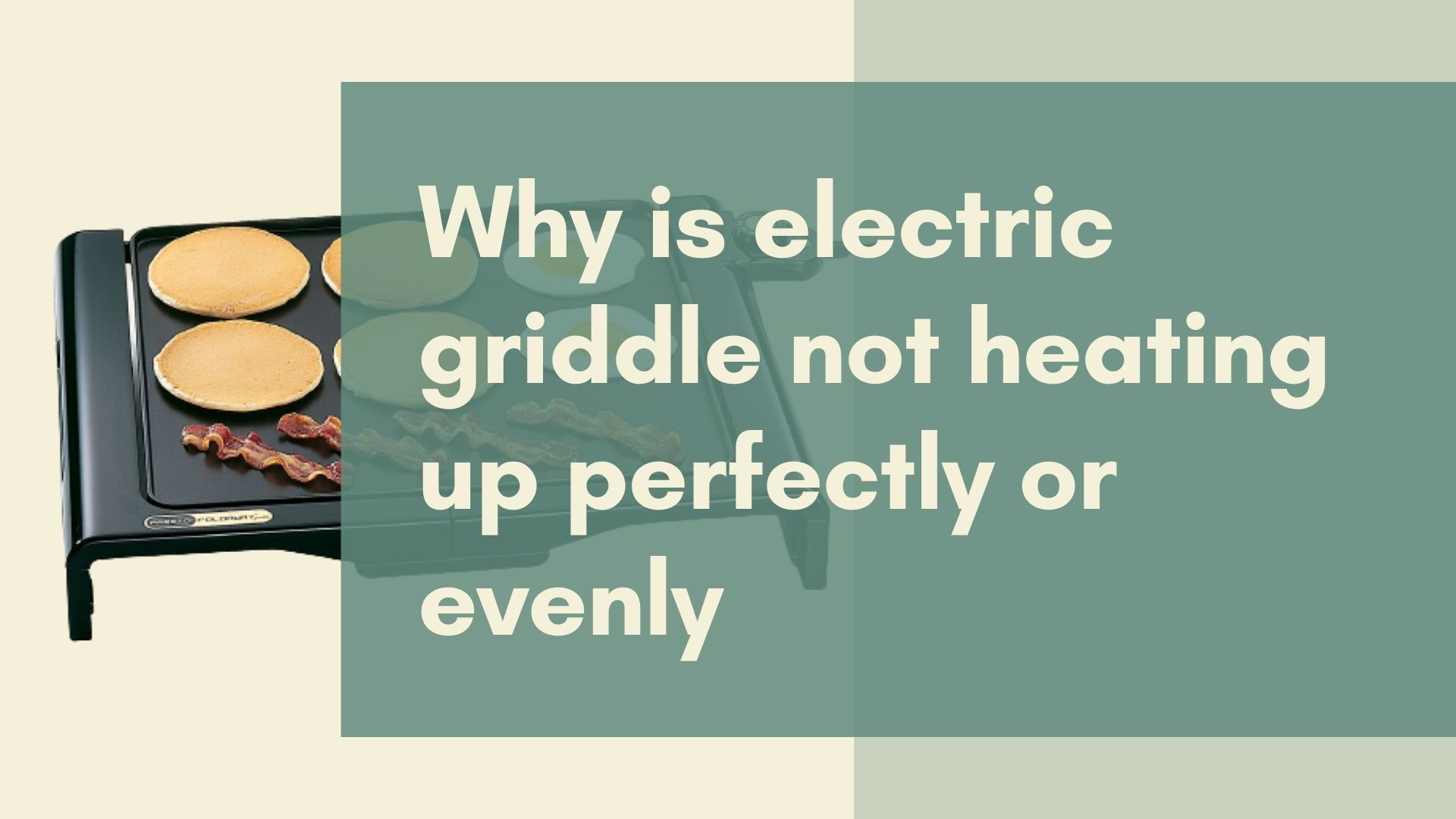 Electric griddle not heating up
