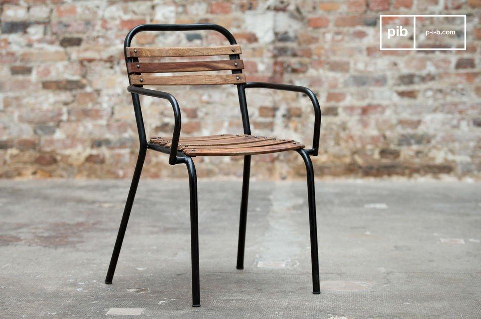 chaise industrielle mistral a accoudoirs