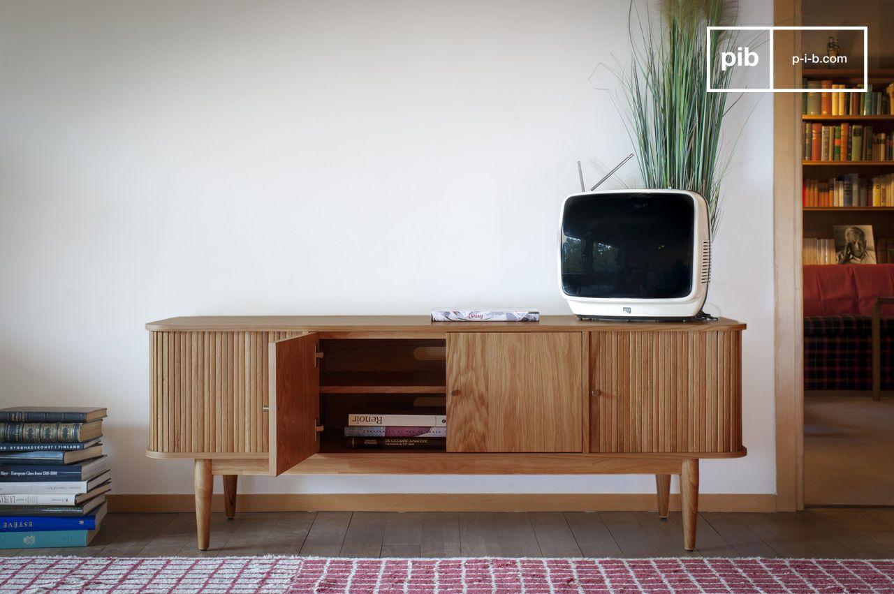 meuble tv a rideaux ritz