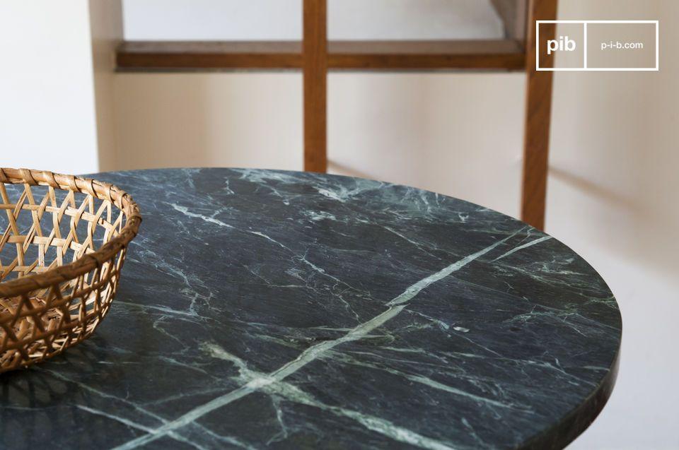 table bistrot en marbre vert lasby
