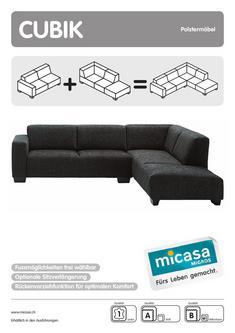 Sofa Ohne Armlehne In Cubik Polstermöbel 01 11 Von Micasa