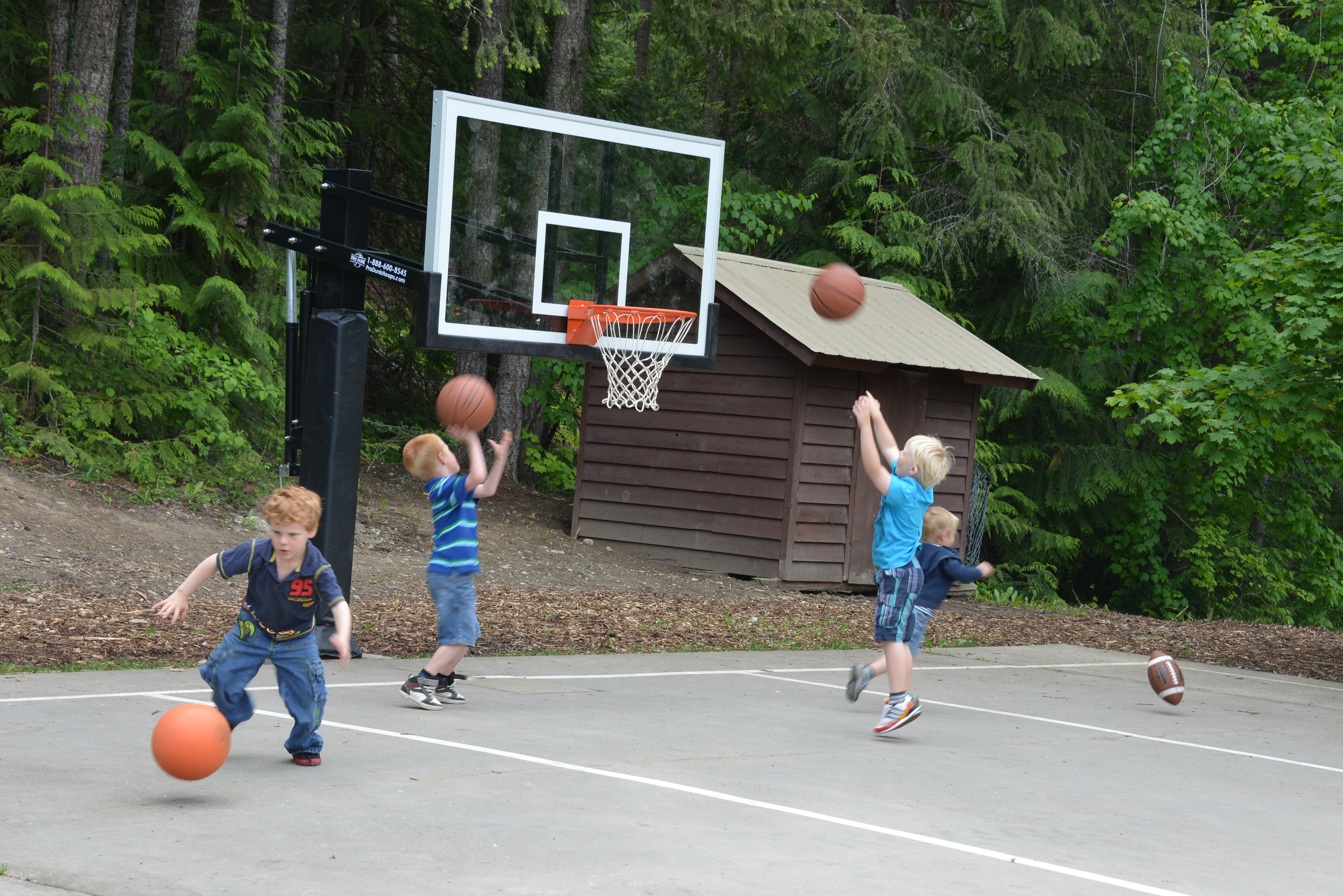 As The Hoop Is Adjusted Low The Kids Are Having So Much