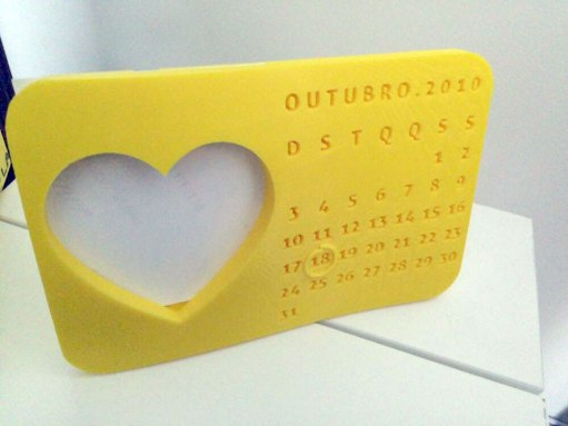 porta-retrato-calendário-impressão-3D
