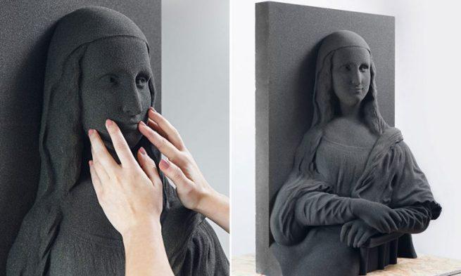 monalisa feita com a impressão 3D