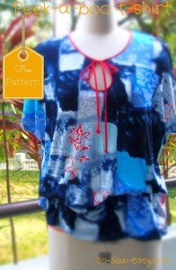 Peek-a-boo T-shirt via So Sew Easy