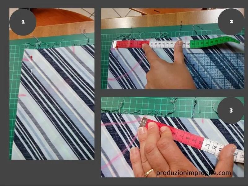 disegno del cartamodello della blusa: scollo e della spalla