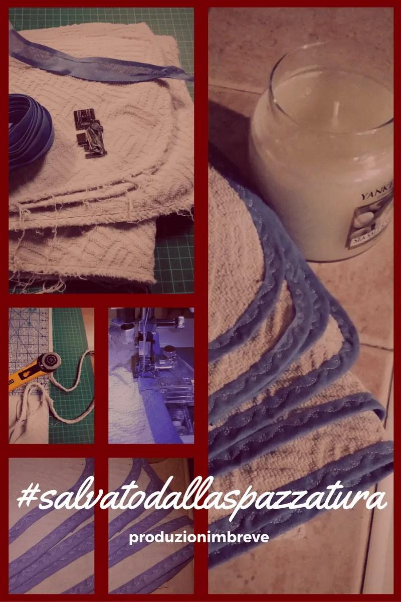 bordare asciugamano