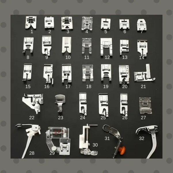 56b6442ccb ... di istruzioni su come montare e utilizzare i piedini. indice piedini  macchina da cucire