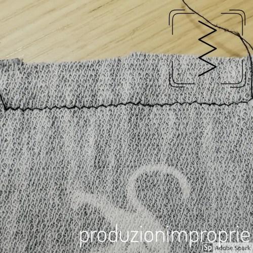 zig zag punti per cucire il jersey