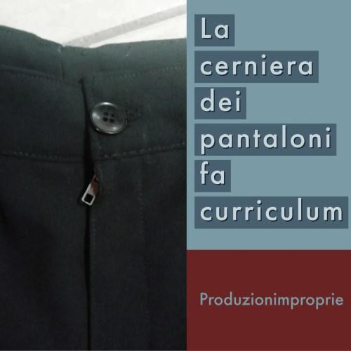la cerniera dei pantaloni fa curriculum