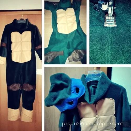 costume carnevale ninja turtle