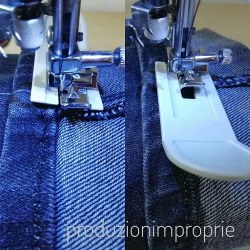 Per cucire più strati di jeans insieme usiamo la soletta