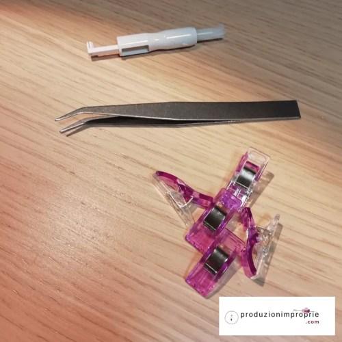 accessori tagliacuci: infila ago pinzette da cucito mollette da cucito