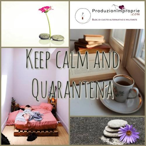keep calm and quarantena