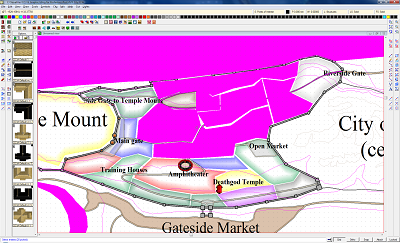 In process selecting districts from city map