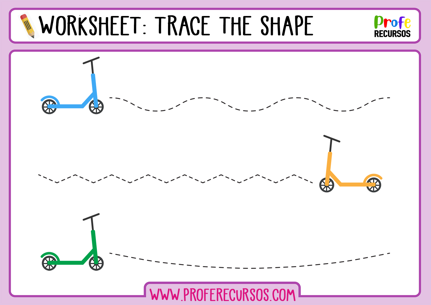 Tracing Worksheets Kindergarten