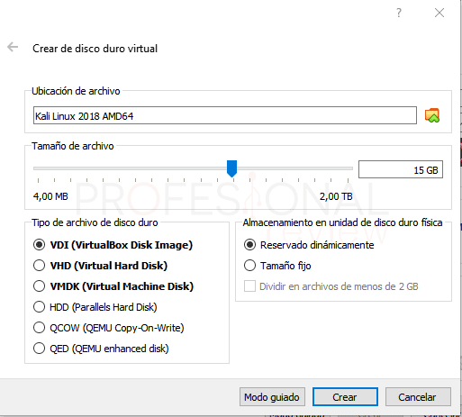Instalar Kali Linux en VirtualBox paso 02