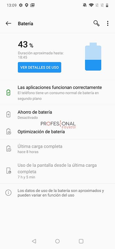 OnePlus 7t Pro Batería
