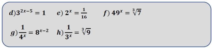 ecuaciones exponenciales con fracciones y con raíces