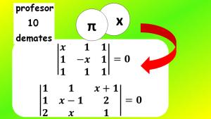 ecuaciones con determinantes 3x3