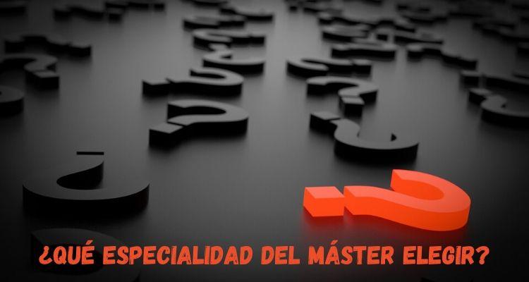 especialidad del Máster en Formación del Profesorado