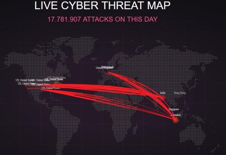 Canlı Siber Saldırı Haritası