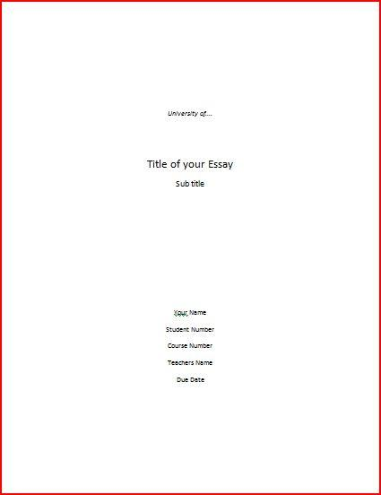 cover paper example