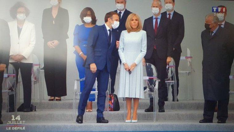 VIDEO. Brigitte Macron sans masque au défilé du 14-Juillet : les internautes scandalisés