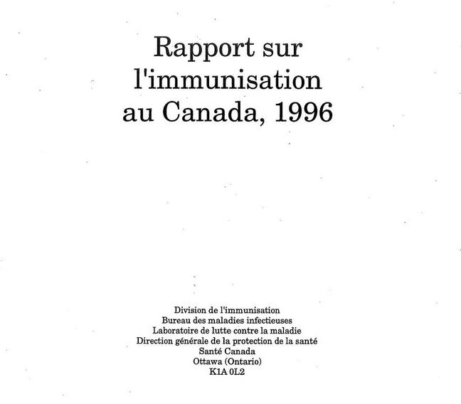 L'immunisation n'est pas obligatoire au Canada en raison de la Constitution canadienne et de la Loi sur la non-discrimination génétique