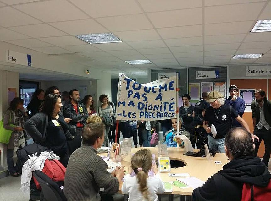 Toulouse : les Intermittents s'emparent d'un Pôle Emploi !