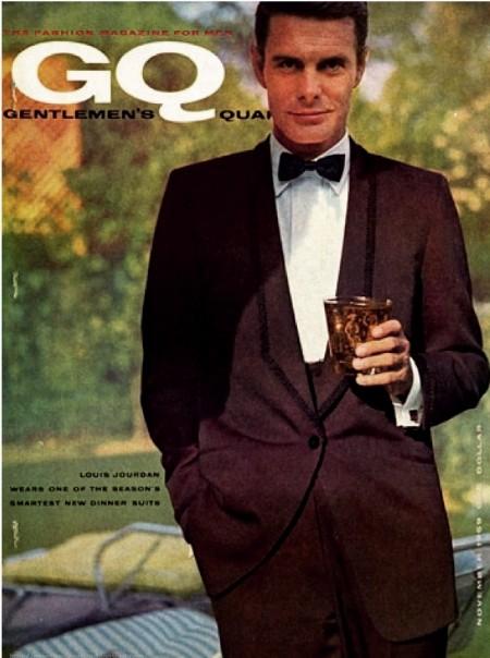 Louis Jourdan - 1959 - Couverture du Magazine GQ (Gentleman's Quarterly)