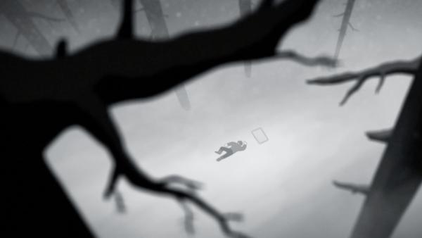 Jolie animation 2D en noir et blanc sur une nouvelle de Jack London