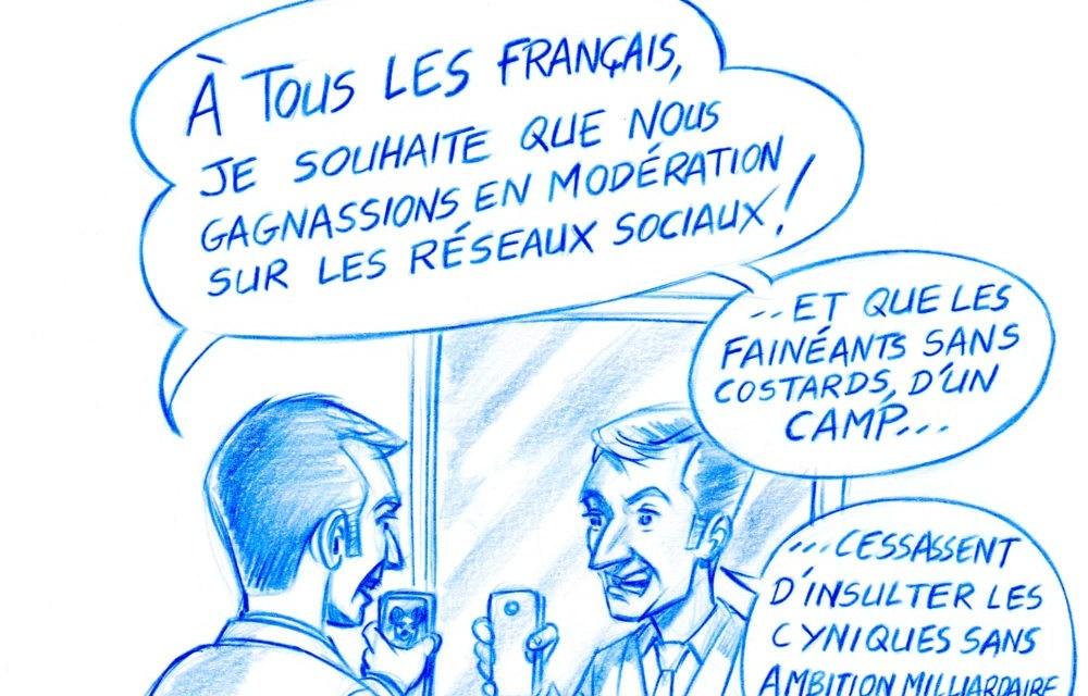 L'Œil de R.O.C – Entraînement d'Emmanuel Macron pour les vœux 2018…
