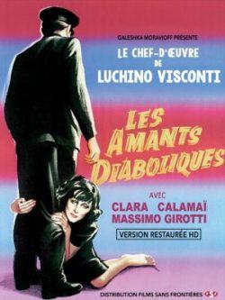 Affiche Les Amants diaboliques, film de Luchino Visconti, avec Clara Calamaï et Massimo Girotti
