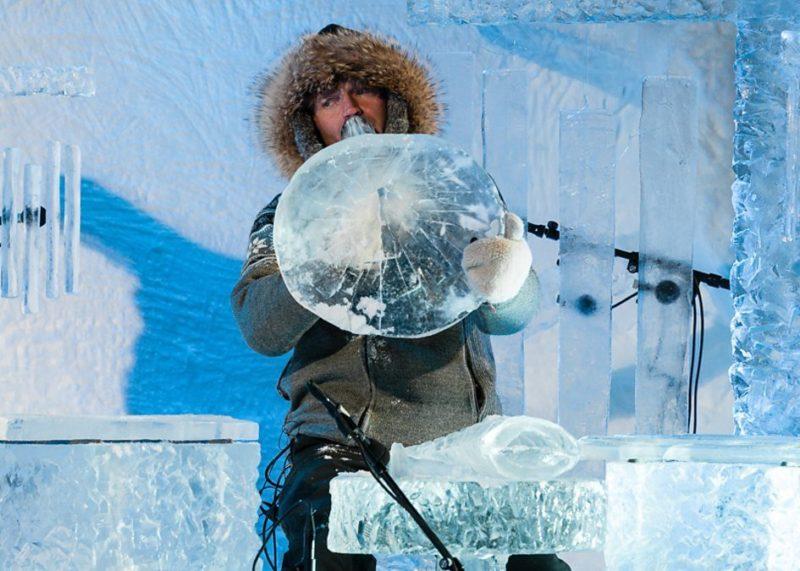 Norvège – Un festival de musique dans un igloo avec des instruments en glace