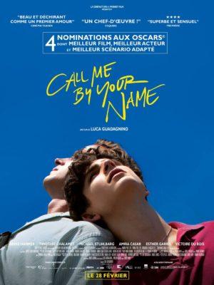 Affiche Call me by your name, de Luca Guadagnino, avec Timothée Chalamet, Armie Hammer