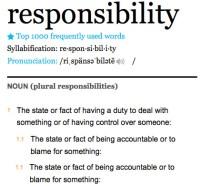 responsibility-def