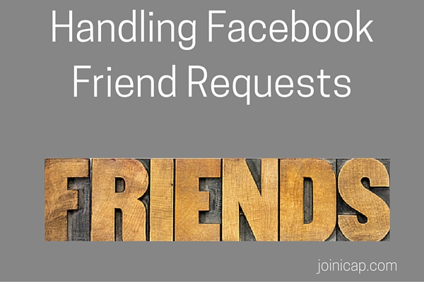 Handling Facebook Friend Requests