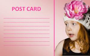 free postcard template