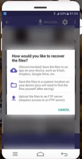 recover options